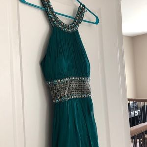 Cache Dresses - CACHE Teal Beaded Cocktail Dress